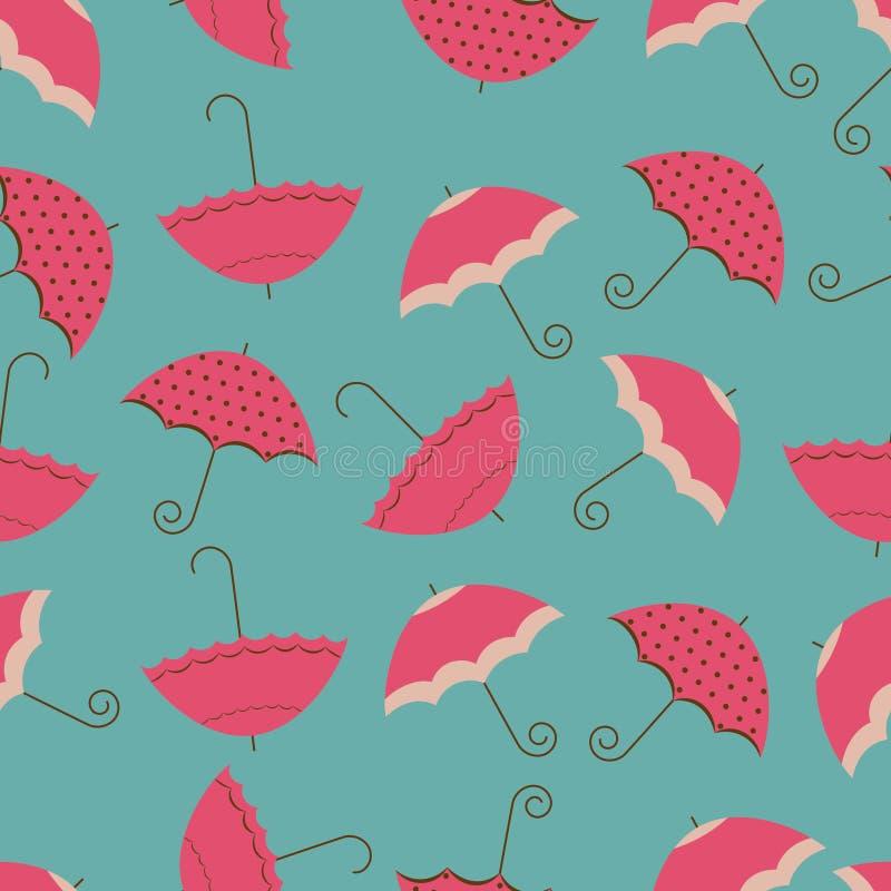 bezszwowy parasol ilustracji