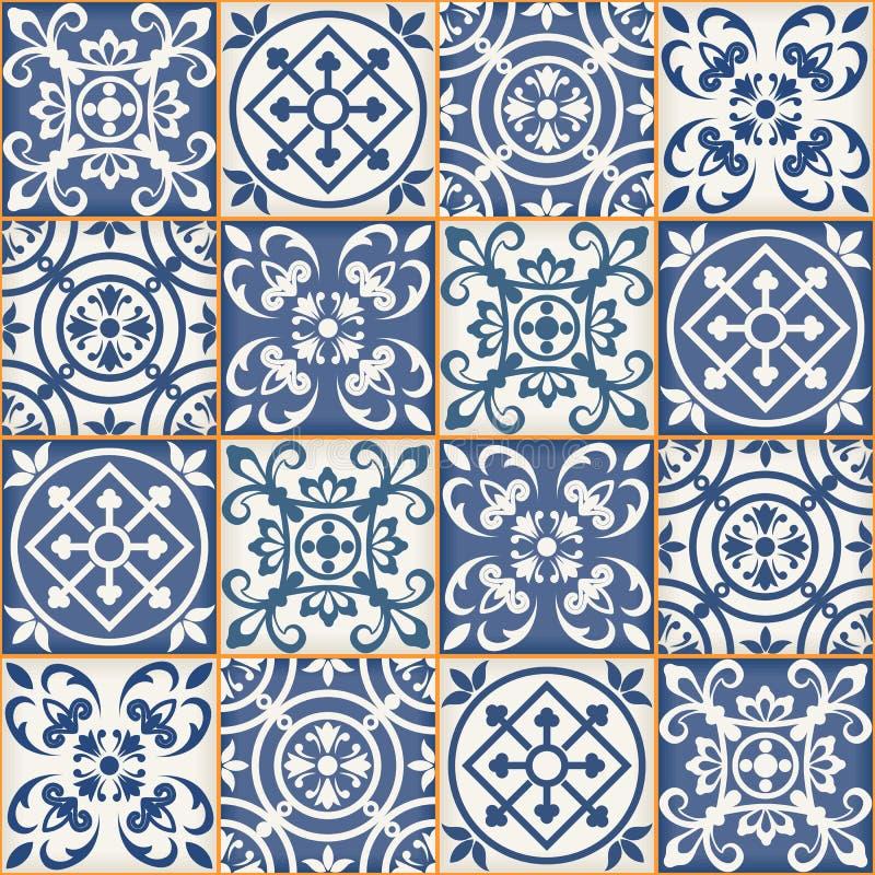 Bezszwowy patchworku wzór, marokańczyk płytki obrazy royalty free