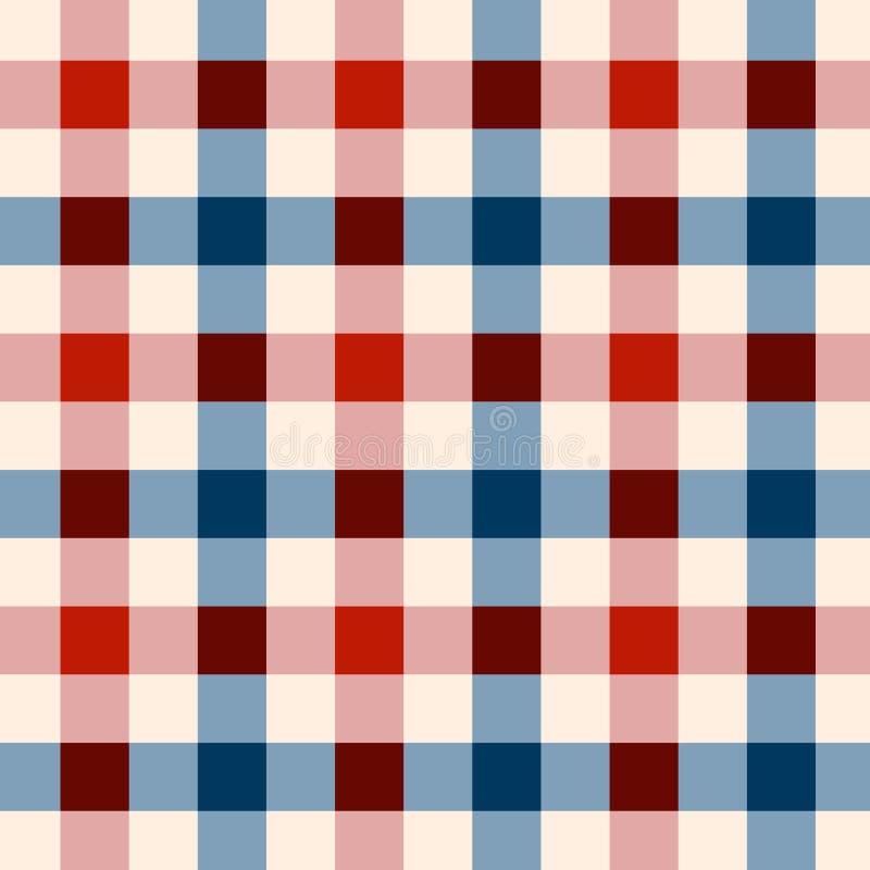 Bezszwowy patriotyczny gingham wzór ilustracji