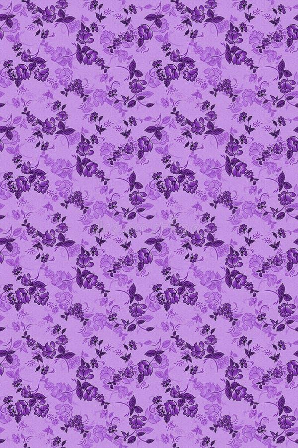 Bezszwowy piękny kwiatu wzór z watermark fotografia royalty free
