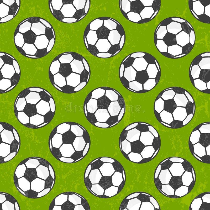Bezszwowy piłka nożna wzór, wektorowy tło. ilustracja wektor