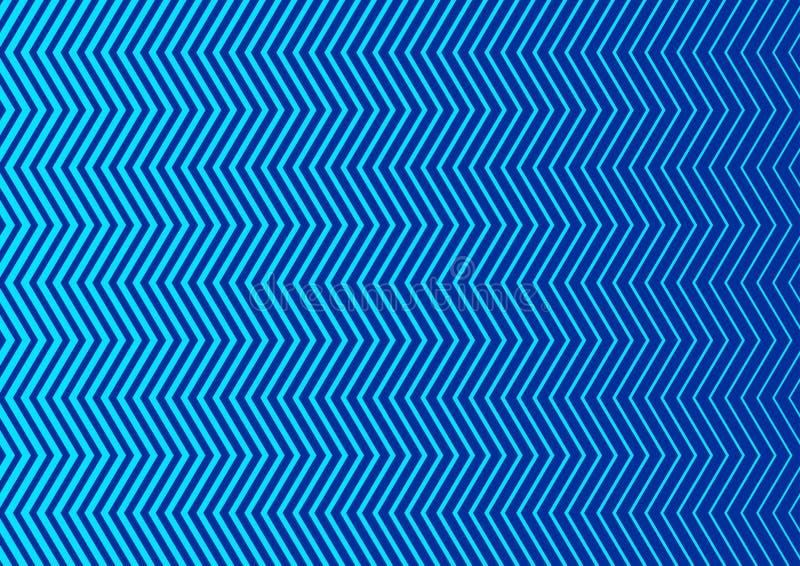 Bezszwowy Pionowo błękita zygzag Paskuje tekstury tło royalty ilustracja