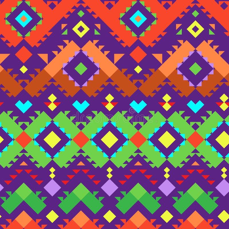 Bezszwowy Plemienny wzór dla Tekstylnego projekta royalty ilustracja