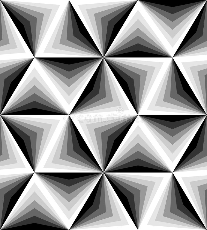Bezszwowy Poligonalny monochromu wzór geometryczny abstrakcjonistyczny tło Stosowny dla tkaniny, tkaniny i pakować, royalty ilustracja