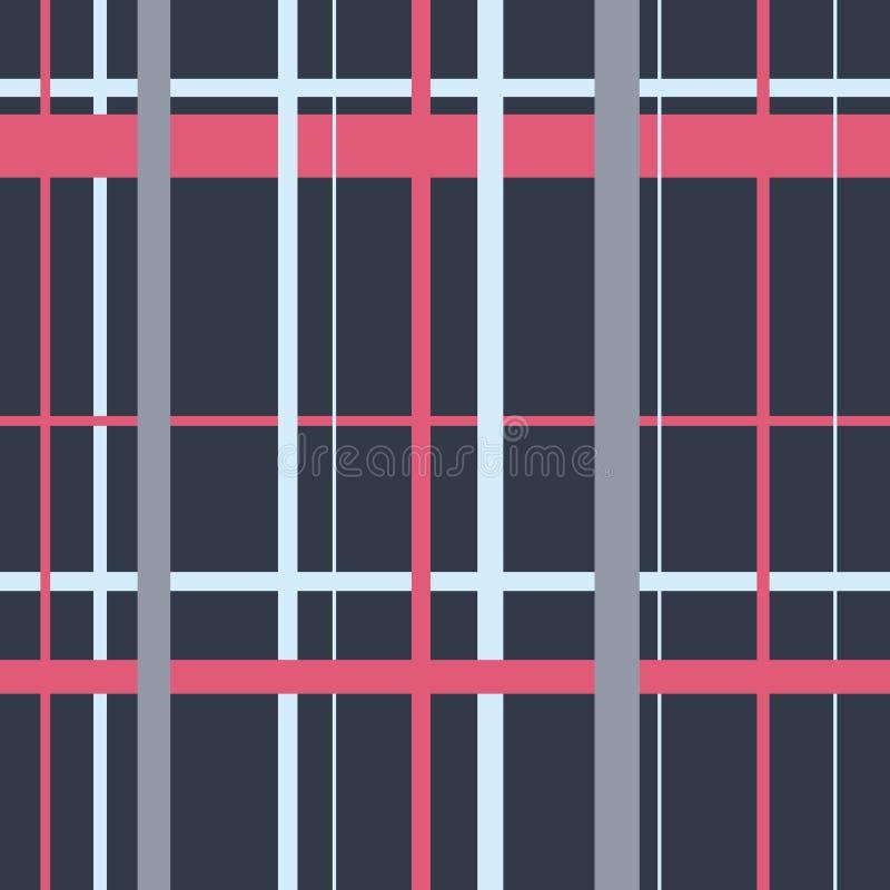 Bezszwowy popielaty Szkocki tradycyjny komórka wzór ilustracja wektor