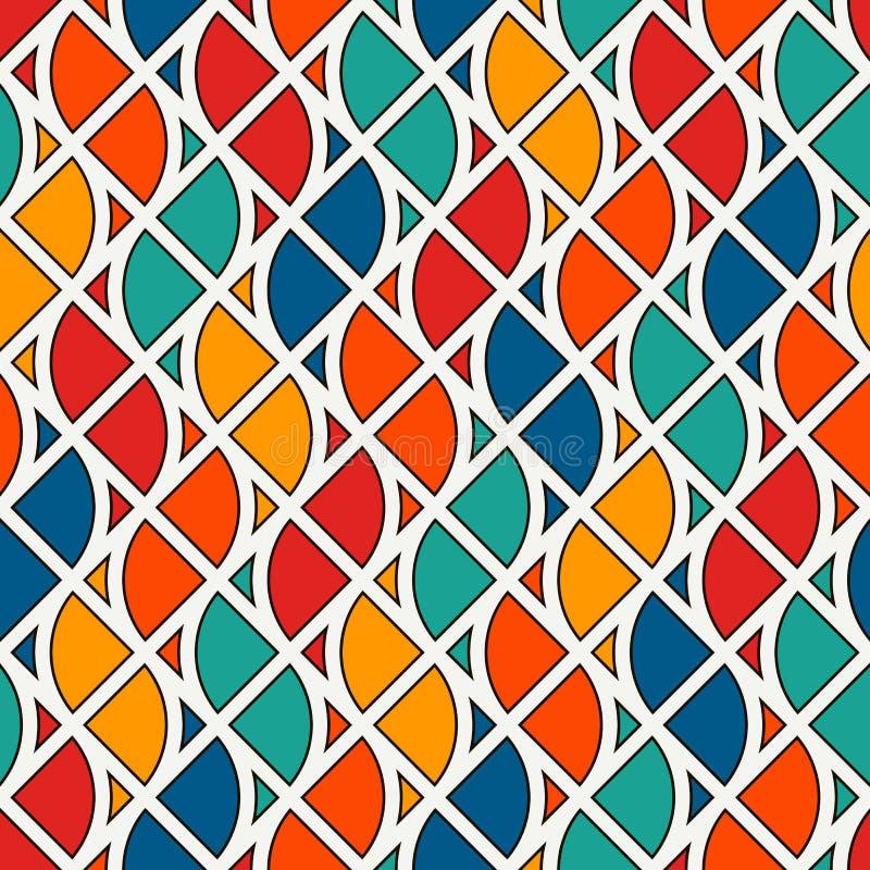 Bezszwowy powierzchnia wzór z pożarniczymi symbolami Współczesny druk z częstotliwymi wystrzykaniami płomień abstrakcyjny tło royalty ilustracja