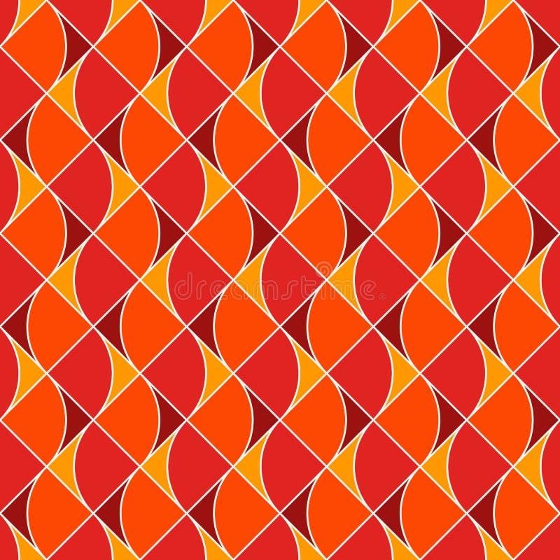 Bezszwowy powierzchnia wzór z pożarniczymi symbolami Współczesny druk z częstotliwymi wystrzykaniami płomień abstrakcyjny tło ilustracji