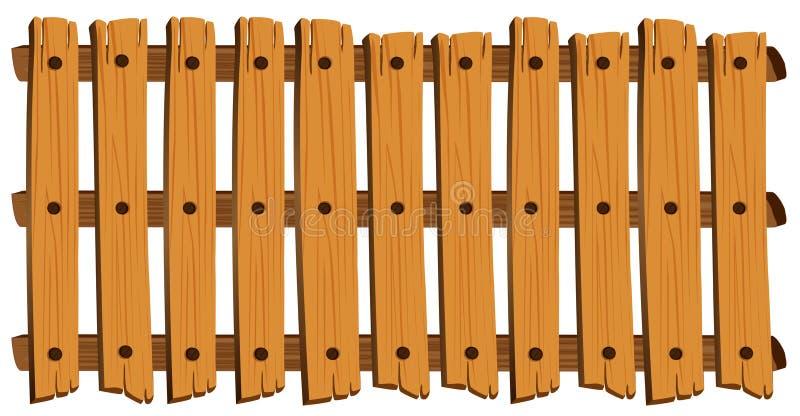 Bezszwowy projekt drewniany ogrodzenie royalty ilustracja