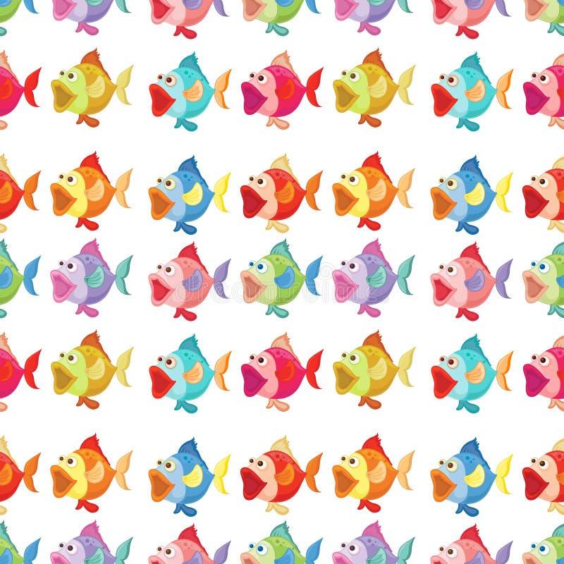 Bezszwowy projekt ryba royalty ilustracja