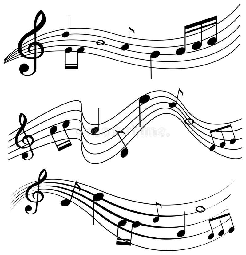 Bezszwowy projekt z muzycznymi notatkami royalty ilustracja