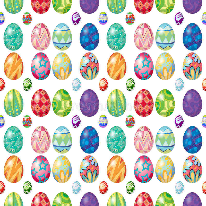 Bezszwowy projekt z Wielkanocnymi jajkami ilustracja wektor