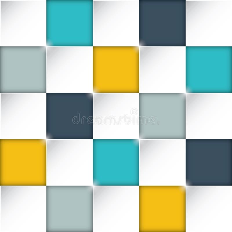 Bezszwowy prostokątów pudełek tło z wspaniałymi płaskimi kolorami ilustracji