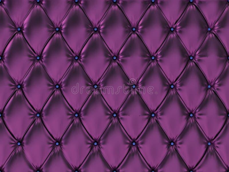 Bezszwowy purpurowy rzemienny tapicerowanie wzór, 3d ilustracja royalty ilustracja
