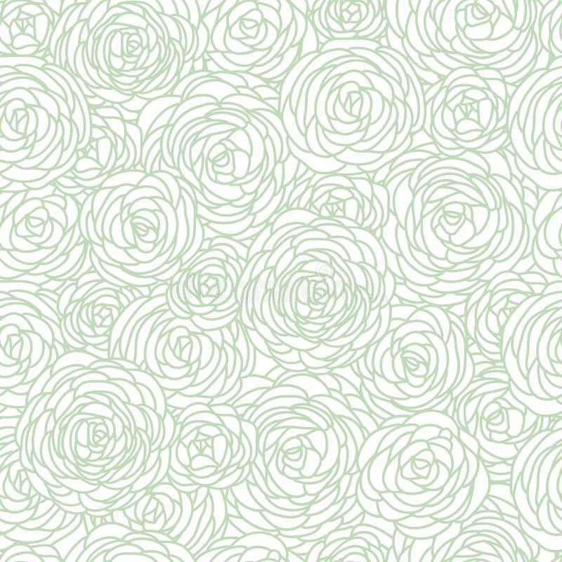Bezszwowy róża wzór ilustracji