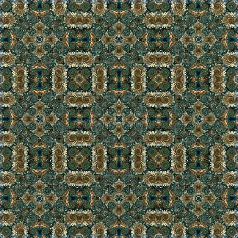 Bezszwowy raster wzór w orientalnym stylowym psychodelicznym mozaika wzorze dla tapety, tła, wystrój dla makat, dywan zdjęcia royalty free