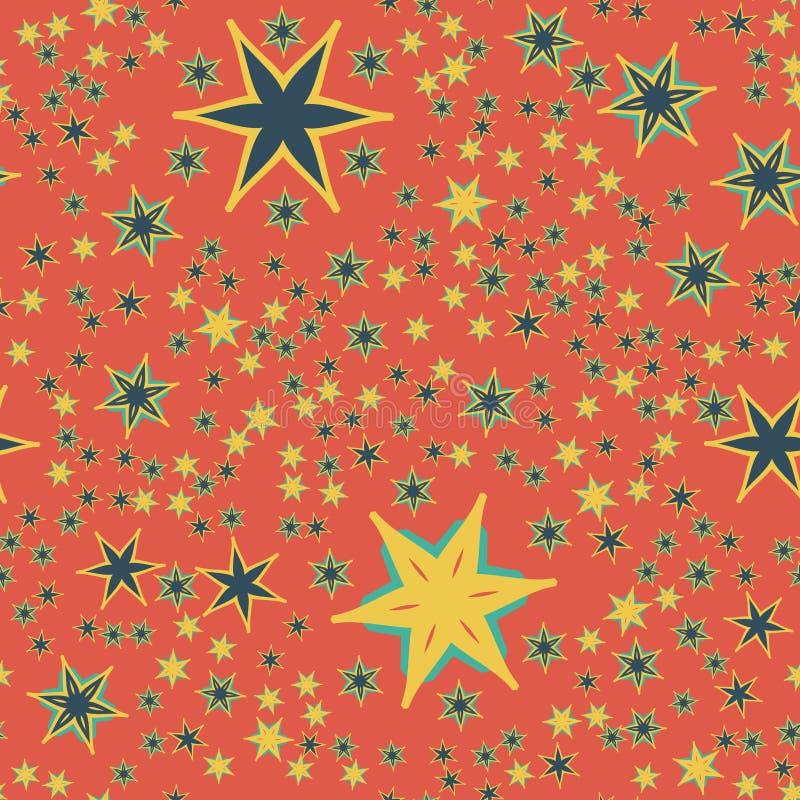 Bezszwowy Retro Czerwony Tapetowy projekta druk ilustracji