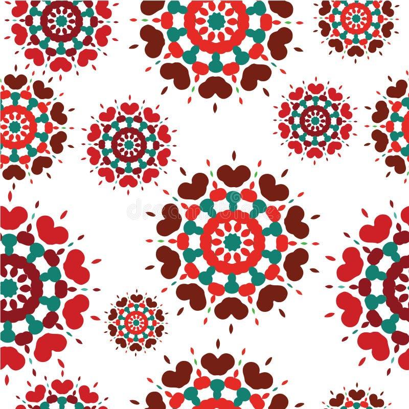 Download Bezszwowy Retro Kalejdoskopu Kwiatu Tła Wzór Ilustracji - Ilustracja złożonej z druk, nowożytny: 28955360