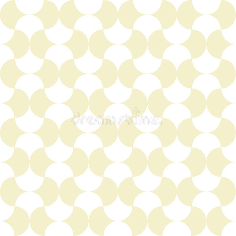 Bezszwowy retro wzór z geometrical kształtami ilustracji