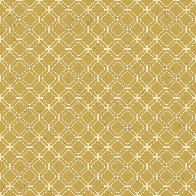Bezszwowy rocznik będący ubranym out kratownica diamentu krzyża geometrii wzoru tło ilustracji