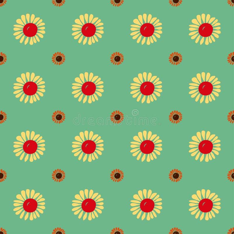Bezszwowy rocznika kwiatu wzór ilustracja wektor
