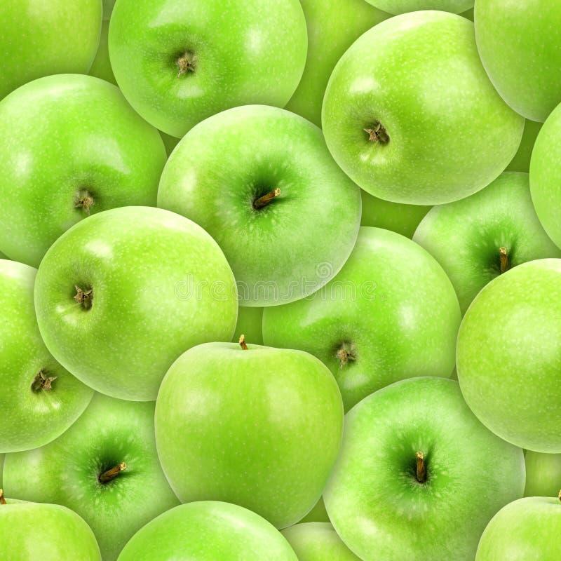 bezszwowy rozsypisko jabłczany świeży zielony wzór zdjęcie stock