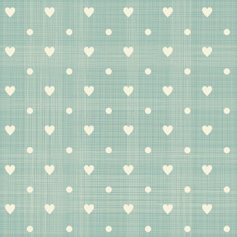 Bezszwowy serc polki kropki wzór royalty ilustracja
