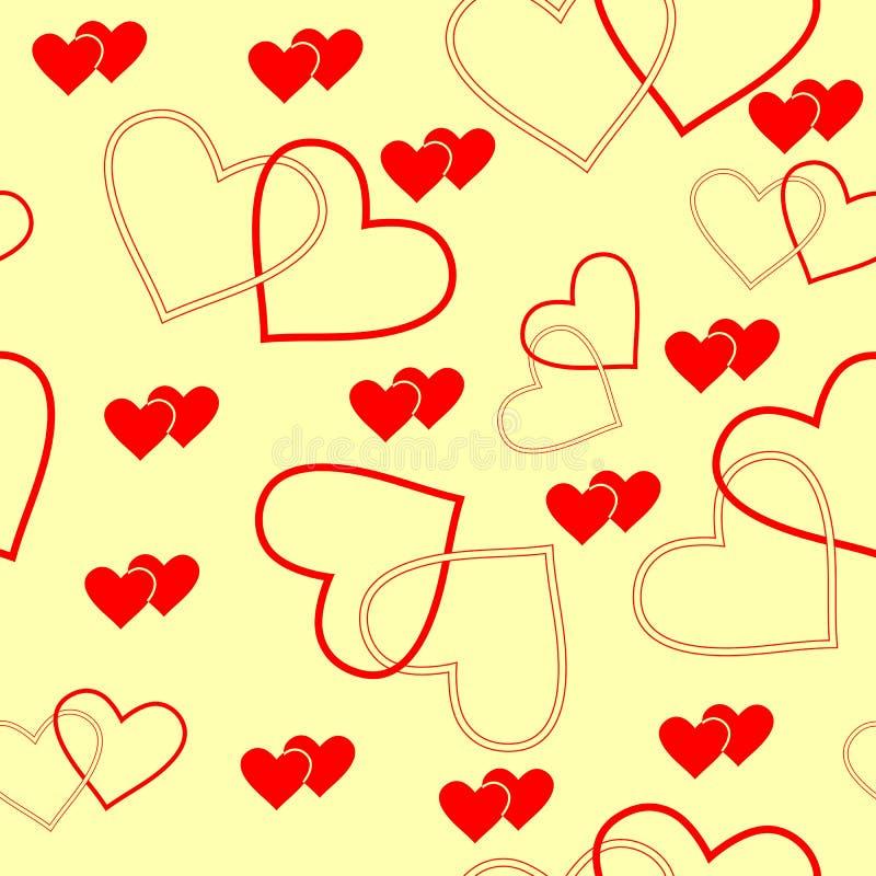 Bezszwowy serce wzór ilustracji
