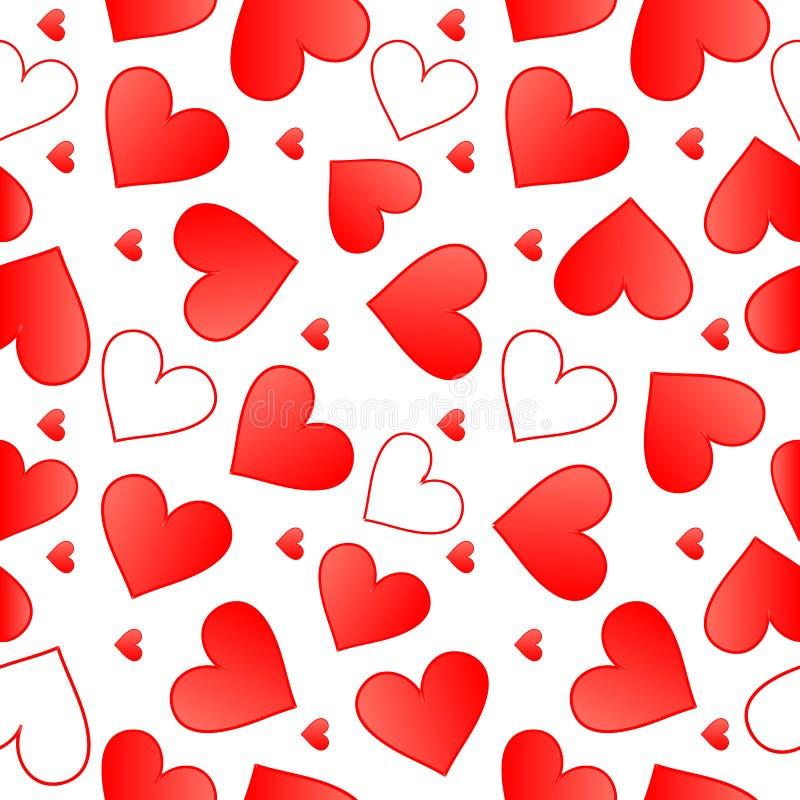 Bezszwowy serce wzór royalty ilustracja