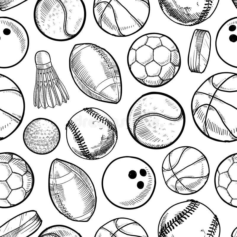 Bezszwowy sporta tło royalty ilustracja