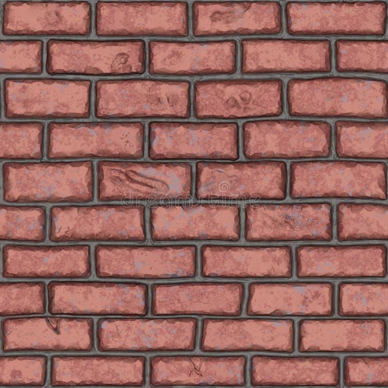 Bezszwowy stary czerwony ściana z cegieł (handpainted) zdjęcia stock