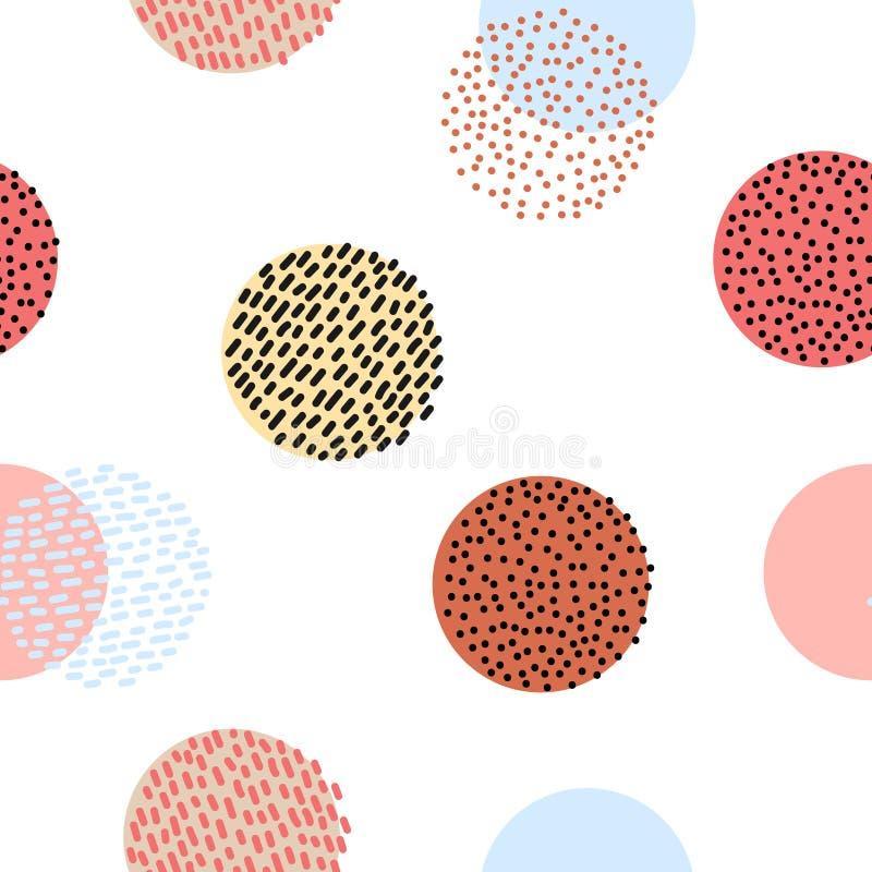 Bezszwowy stylizowany kolorowy grafika wzór royalty ilustracja