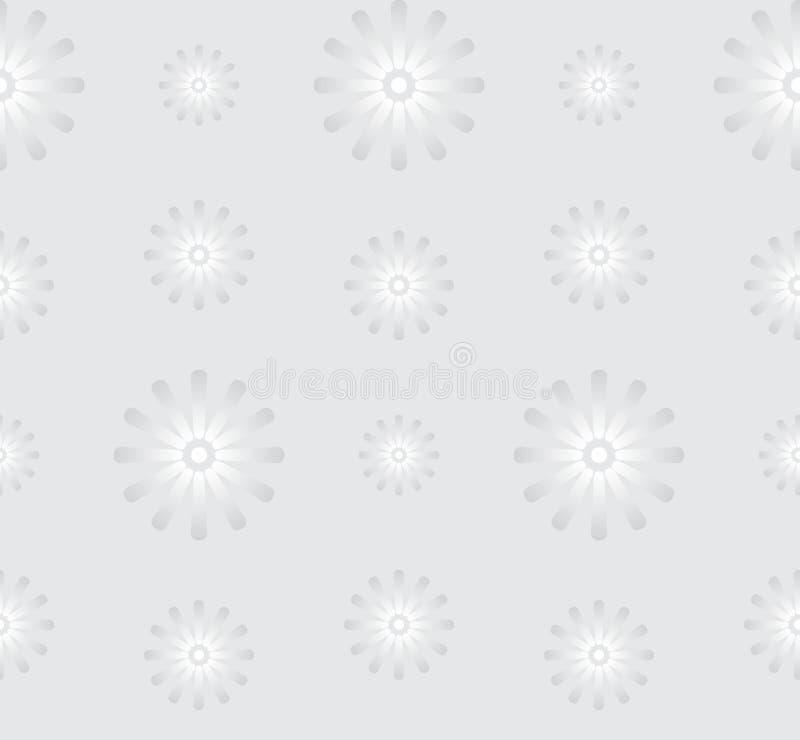 Bezszwowy Szary tło z stokrotka kwiatami royalty ilustracja