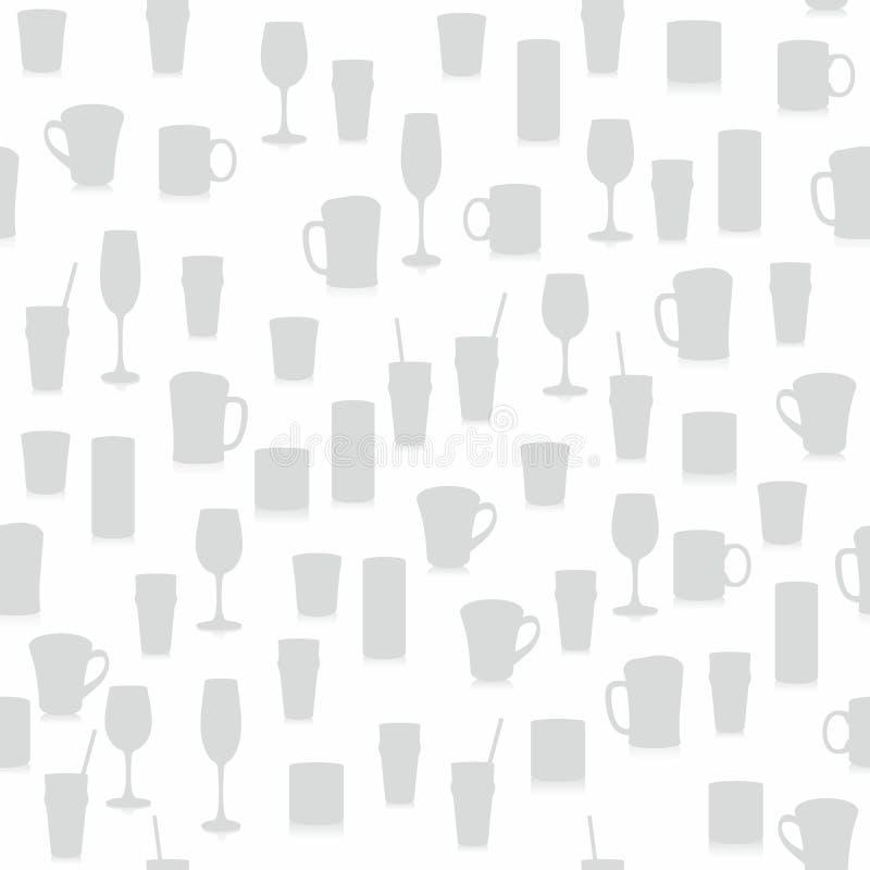 bezszwowy szkło różny wzór royalty ilustracja