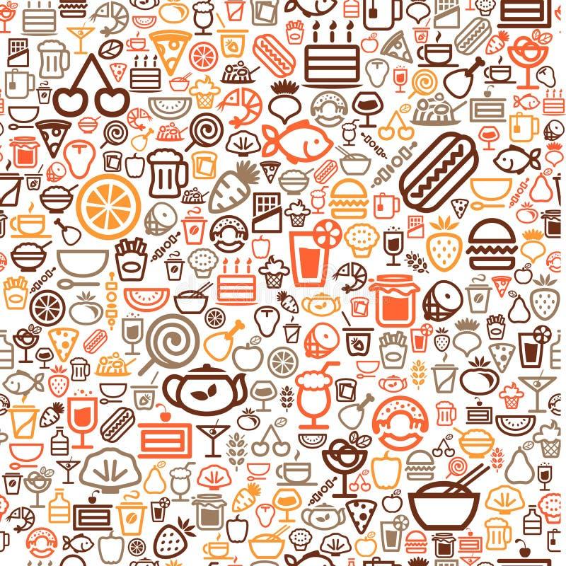 bezszwowy tła jedzenie royalty ilustracja