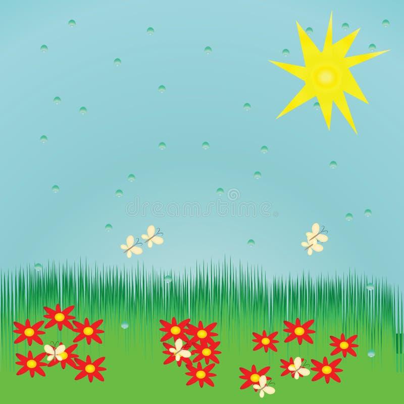 bezszwowy tła lato ilustracji
