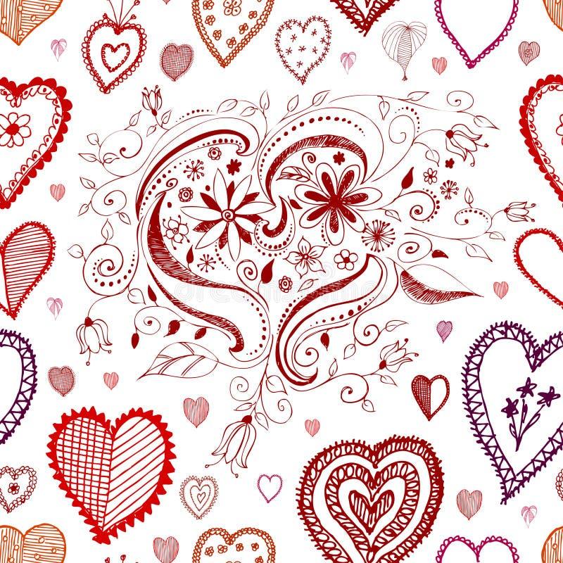 bezszwowy tła serce ilustracja wektor