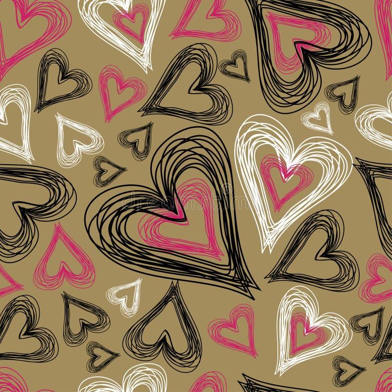 bezszwowy tła serce ilustracji