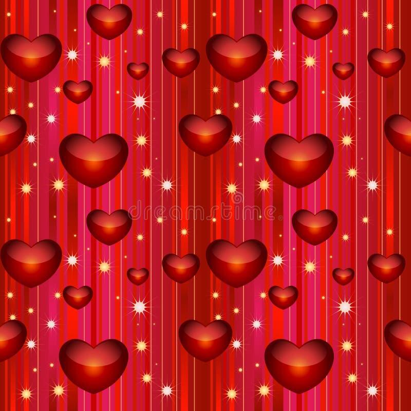 bezszwowy tła valentine royalty ilustracja