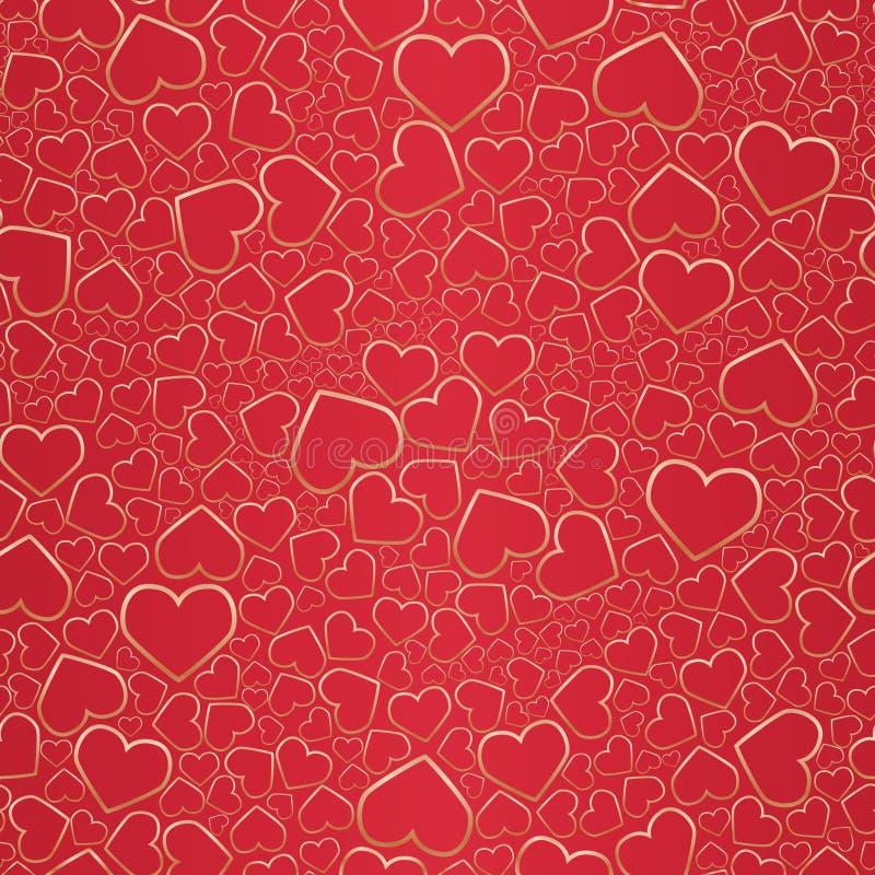 bezszwowy tła valentine ilustracja wektor