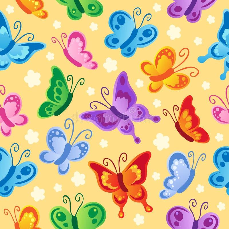 bezszwowy tło (1) motyl royalty ilustracja