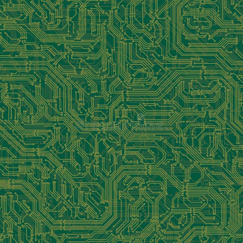 Bezszwowy tło elektrycznego obwodu deska royalty ilustracja