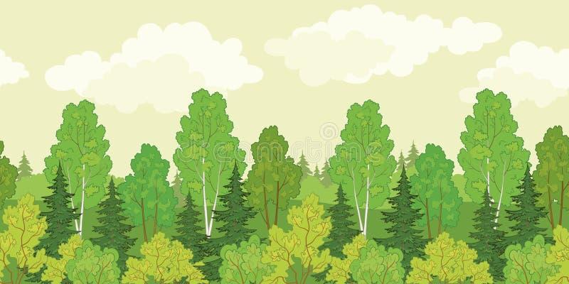 Bezszwowy tło, las ilustracji