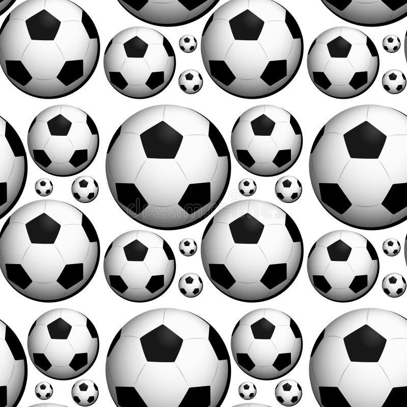 Bezszwowy tło projekt z futbol royalty ilustracja