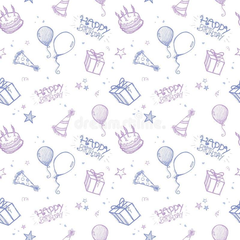 bezszwowy tło urodziny royalty ilustracja