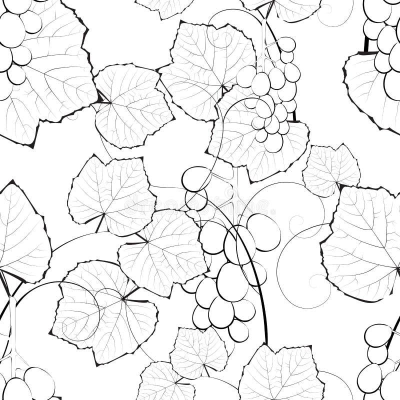 bezszwowy tło winograd royalty ilustracja