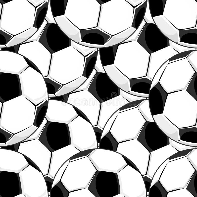 Bezszwowy tło wzór futbol ilustracja wektor