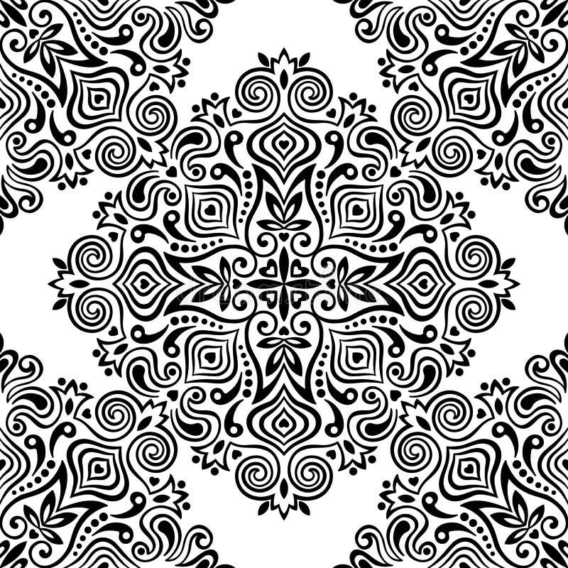 Bezszwowy tło z abstrakcjonistycznym etnicznym wzorem ilustracja wektor