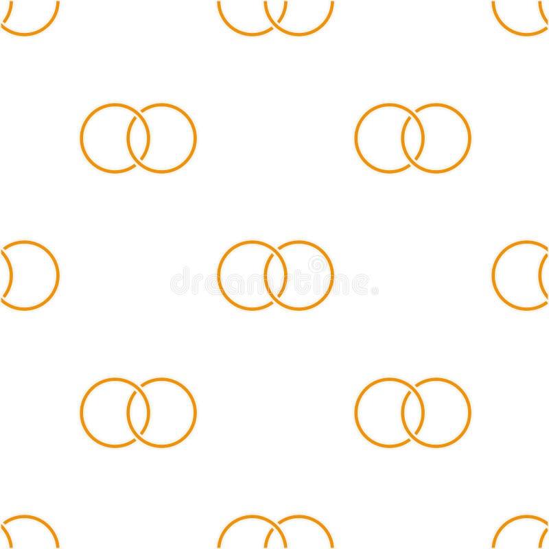 Bezszwowy tło z barwionymi pierścionkami ilustracji