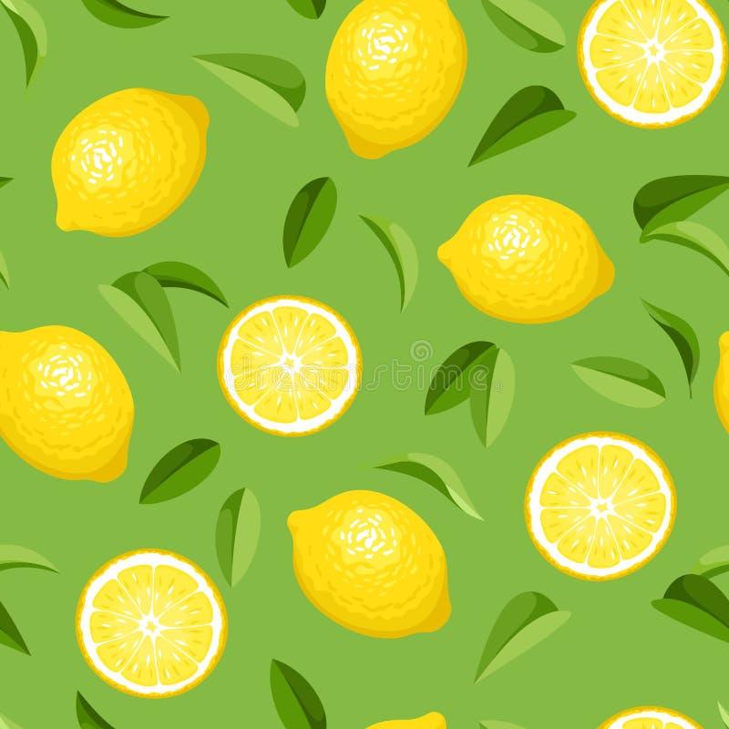 Bezszwowy tło z cytrynami. ilustracja wektor