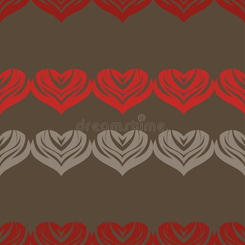 Bezszwowy tło z dekoracyjnymi sercami to walentynki dni również zwrócić corel ilustracji wektora royalty ilustracja